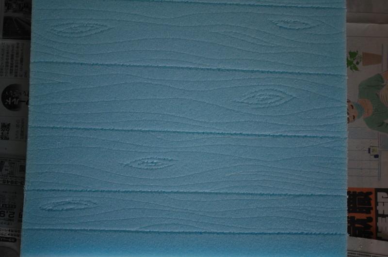 add wood grain to foam boards for props