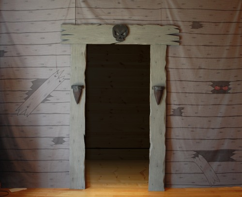 make your own haunted house entrance