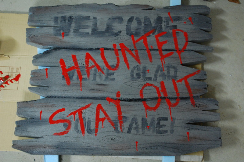 haunted house sign template